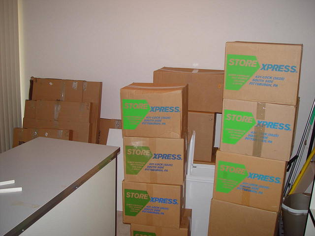 Piles of Moving Boxes