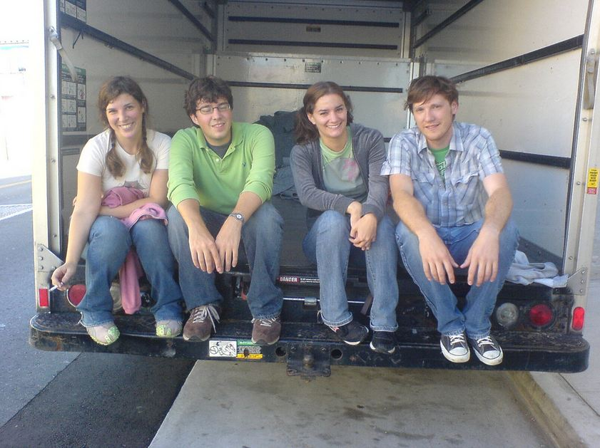 Movers Sitting on Truck