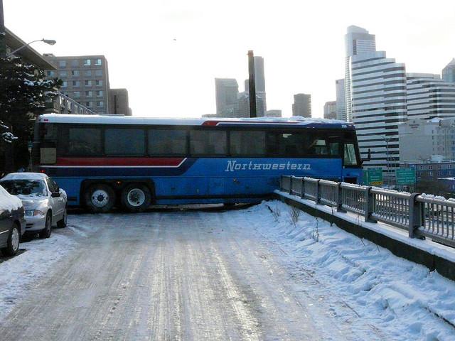 Bus Crash On Icy Road