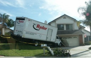 Moving Truck Wreck