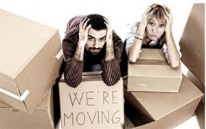 Stressed Out Moving Couple