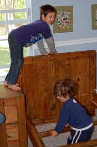 Kids Playing on Furniture