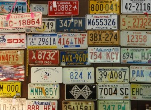 License Plates on Wall